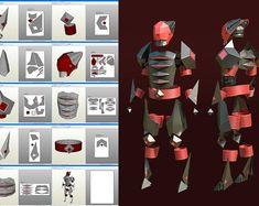 Titan Rise du motif en Pepakura armure en fer BRICOLAGE