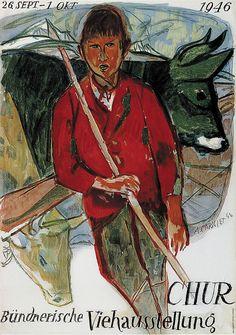 Alois Carigiet, Buendnerische Viehausstellung in Chur, 1946