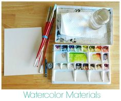 Watercolor Materials - Elise Engh and Grow Creative