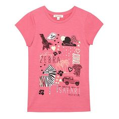 bluezoo Girl's pink 'Safari' print t-shirt- at Debenhams.com