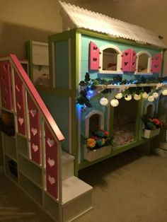 Sweet Pea Bunk Bed for Viktoria, A Labor of Love by Grandpa!