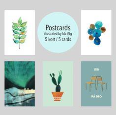 Postkort x 5 via Madeby MI design. Click on the image to see more!