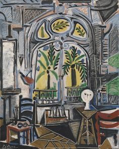 Pablo Picasso, The Studio, 1955, Oil on canvas, 80,9 x 64,9 cm, Tate Modern, London