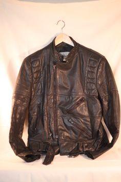 Vintage Wilson Leather Motorcycle Jacket Men's by HomeEcUprising