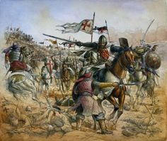 Entre os sarracenos, somente aqueles que tinham os melhores cavalos conseguiram escapar.