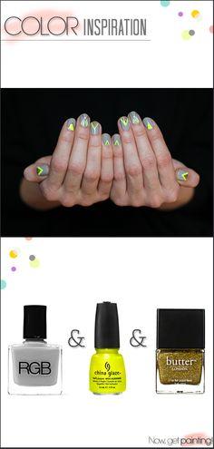 Graphic Neon Manicure by Miss Renaissance