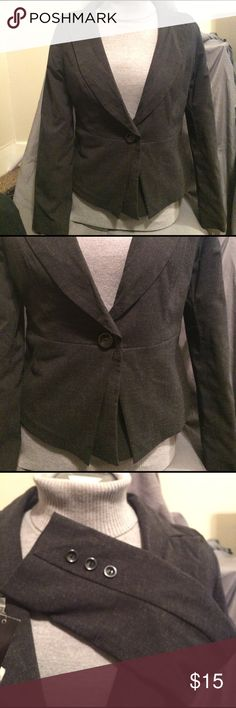 NWT single button blazer Single button blazer with interesting hem detail. Has some give so it's easy to move in. Fully lined 69% poly, 29% viscose, 2% spandex AGB Jackets & Coats Blazers