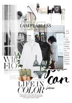 """""""I am fearless."""" by mutsam17 ❤ liked on Polyvore featuring Linea Pelle, Acne Studios, La Perla, Valentino, Wanderlust + Co and Rebels"""