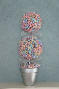 Wedding/Party Lollipop Tree (you pick your color theme) Party Candy Buffet, Station, Centerpiece or Gift. $60.00, via Etsy.