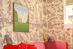 McFetridge wallpaper in awesome kids room