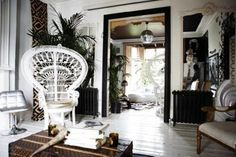 The Bohemian hippy chic Living ~ Eclectic Interior  | followpics.co
