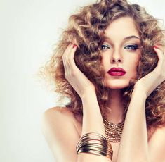 123RF - Millions of Creative Stock Photos, Vectors, Videos and Music Files For Your Inspiration and Projects. Red Manicure, Spa Center, Brand Fonts, Model Pictures, Most Beautiful Women, Fashion Models, Curly Hair Styles, Photo Editing, Stock Photos