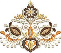 Ľudová výšivka Vajnory kožuch, hnedá, rozmer 12x11 cm Machine Embroidery Designs, Embroidery Patterns, Folk Art, Women's Fashion, Stitch, Ornaments, Sewing, Tattoos, Craft