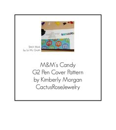 M & M's Candy G2 Pen Cover Pattern Even Count Peyote Instant Downloading PDF by CactusRoseJewelry on Etsy