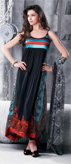 Deepika Padukone modeling a anarkali style churidaar @ http://www.myoffstreet.com/Product/92611