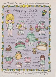J.W.A. Children's Page- Good Housekeeping- Easter 1991 *1500 free paper dolls at artist Arielle Gabriel's The International Paper Doll Society also free Asian paper dolls at The China Adventures of Arielle Gabriel *