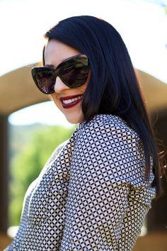 house-of-harlow-chelsea-sunglasses-mac-darkside-lipstick-beauty-blogger-brunette-makeup-ideas