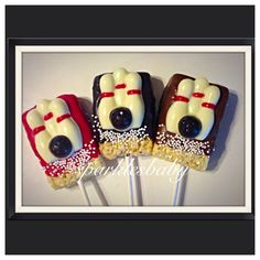 Bowling Chocolate - Bowling Pins and Bowling ball chocolate covered rice krispie treat pops set of 12 Bowling Party, Bowling Pins, Bowling Ball, Chocolate Covered Oreos, Personalized Favors, Party Themes, Party Ideas, Rice Krispies, Color Themes