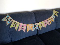 Rustic Burlap Teacher Name Banner Classroom Decor by RustikKustoms