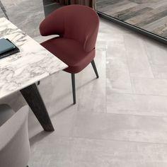 Interno 9 pairs stylish simplicity with untamed irreverence of weathering steel. Floor Design, E Design, Interior Design, Luxury Bathroom Vanities, Weathering Steel, Large Format Tile, Herringbone Tile, Aalborg, Wall And Floor Tiles
