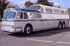 greyhound bus | ... to expand and see my fully restored 1950s Greyhound Scenicruiser bus | During 1976 Spring Break to go back to Laceys Spring, AL to see my Father and return, I had to use the Greyhound Bus. So getting my first own Car a couple month's later was awesome to me.