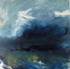 Storm Horizon XXVI (oil and pencil on board) #landscapepainting  #art  #oil  #landscapesinoil #britishartist  #oilpainting  #stormhorizon  #painting #contemporarylandscapes