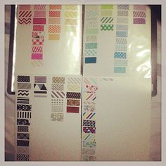 Make a washi tape inventory so you can keep track of the designs that you have. #craftstorage
