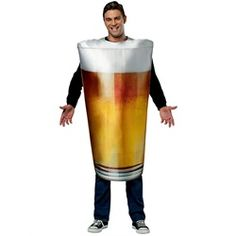 Wholesale Halloween Costumes - Adult Pint Glass Unisex Costume