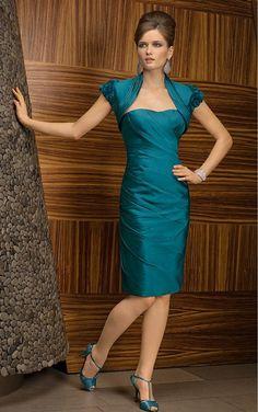 Hunter Sheath Knee-length Sweetheart Dress [Dresses 9310] - $150.00 : - KissPromGirl.com