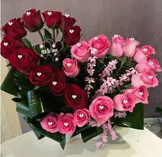 33 Beautiful Valentine Flower Arrangements That You Will Like - Flowers are one of the most popular gifts given and sent on Valentines day. Sons buy a pretty posy for their mom, boys buy them for their girlfriends,. Rosen Arrangements, Valentine's Day Flower Arrangements, Memorial Flowers, Valentines Flowers, Valentine Nails, Valentine Ideas, Deco Floral, Funeral Flowers, Church Flowers