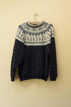 Vintage Wool Sweater  Eddie Bower Wool Knit by FiregypsyVintage