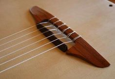 nylon-string acoustic bridge