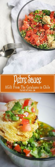 When Pesto met Salsa, they had a baby named Pebre.