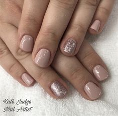 Nail art from the NAILS Magazine Nail Art Gallery, gel-polish, bridal nails, gel polish, short nails, gel color, gel manicure, nude nails, nude, nail artist, nail fashion, nail polish,