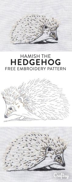 Hedgehogs are adorable. Fact. Get this free embroidery pattern and stitch your own little friend!