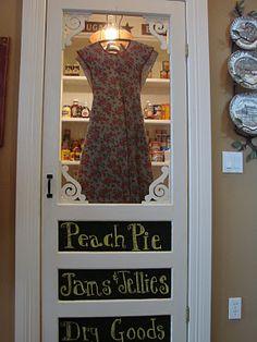 Love this pantry door