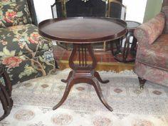 Vintage Mersman Lyre Harp Coffee Table by WalnutHollowVintage, $120.00