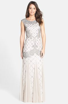 Adrianna Papell Beaded Trumpet Gown available at #Nordstrom