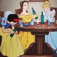 Disney princesses misbehaving gives us major shocked face Funny Disney Memes, Cartoon Memes, Cartoon Pics, Dark Disney, Disney Art, Cartoon Wallpaper, Disney Wallpaper, Disney Gone Bad, Bad Princess