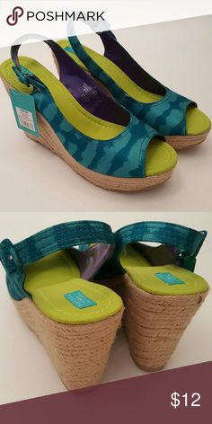 """New Calypso St. Barth Wedges New In Box (NIB). Unused. 4.2"""" heel. Listing is for Wedges only. Calypso St. Barth Shoes Wedges"""