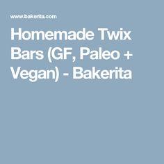 Homemade Twix Bars (GF, Paleo + Vegan) - Bakerita