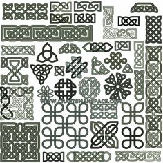 Collection of 39 Celtic knot patterns, download in eps or svg format.