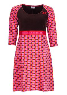 Dazzle Me dress DENISE harlequin pink Jersey Dresses, Knitted Fabric, I Dress, Sewing Projects, Two Piece Skirt Set, Women's Fashion, Board, Skirts, Clothing