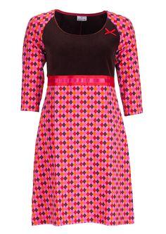 Dazzle Me dress DENISE harlequin pink