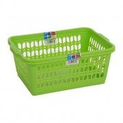 set of 2 large lime green handy baskets for general use around the house, such as arts and crafts.