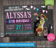 Hotel Transylvania 2 Birthday Invitation by StudioBeeDesignCo 2nd Birthday Invitations, Halloween Party Invitations, 4th Birthday Parties, 8th Birthday, Birthday Ideas, Hotel Transylvania Birthday, Holiday Fun, Etsy, Party Ideas