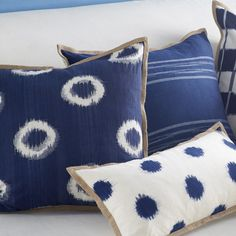 Ikat Pillow Cover – Spotted Square