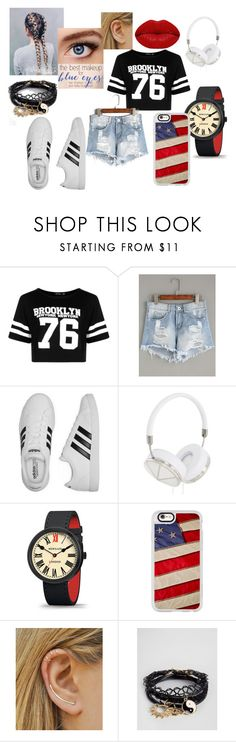"""Brooklyn"" by elena-v-1 ❤ liked on Polyvore featuring Boohoo, adidas, Frends, Newgate, Casetify, ASOS and Winky Lux"