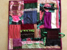 Fidget Quilt / Sensory Blanket - Mama's Roses by ScrappyRemnants on Etsy