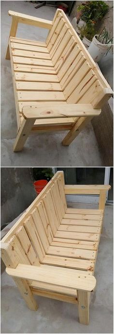 A simple yet creative finishing of the wood pallet bench is introduced in this image for you which can best change the whole look of the house at the best means. It is being put together with the simple variation of artwork design with the easy to build up formations.